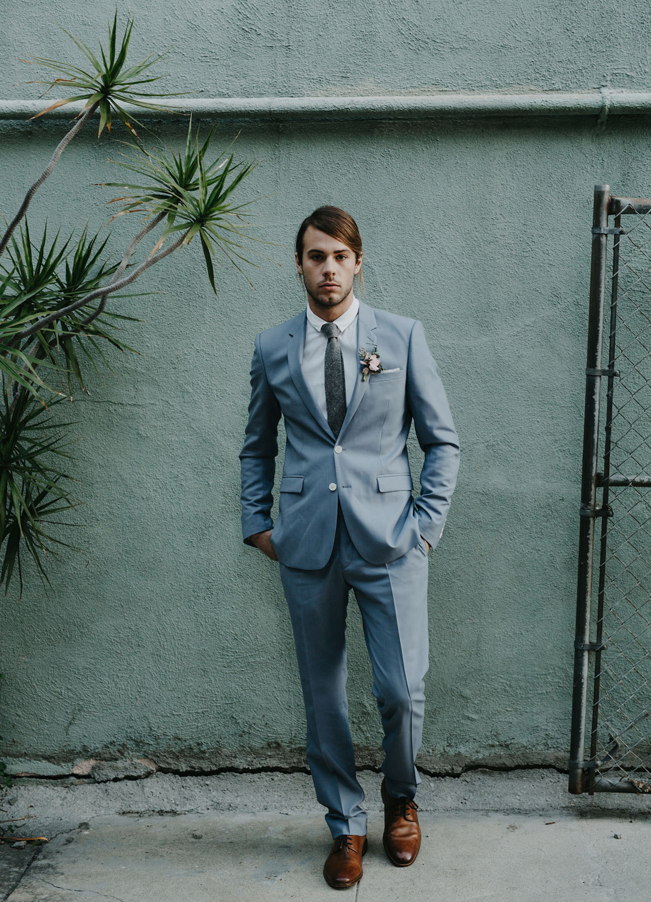 soft gray blush for groom fashion