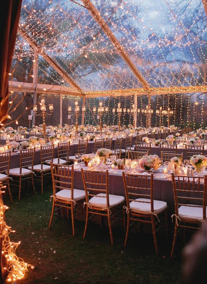 sparkling lights for gorgeous wedding
