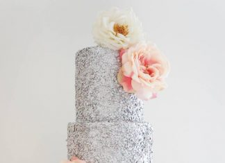 unique and colorful wedding cake