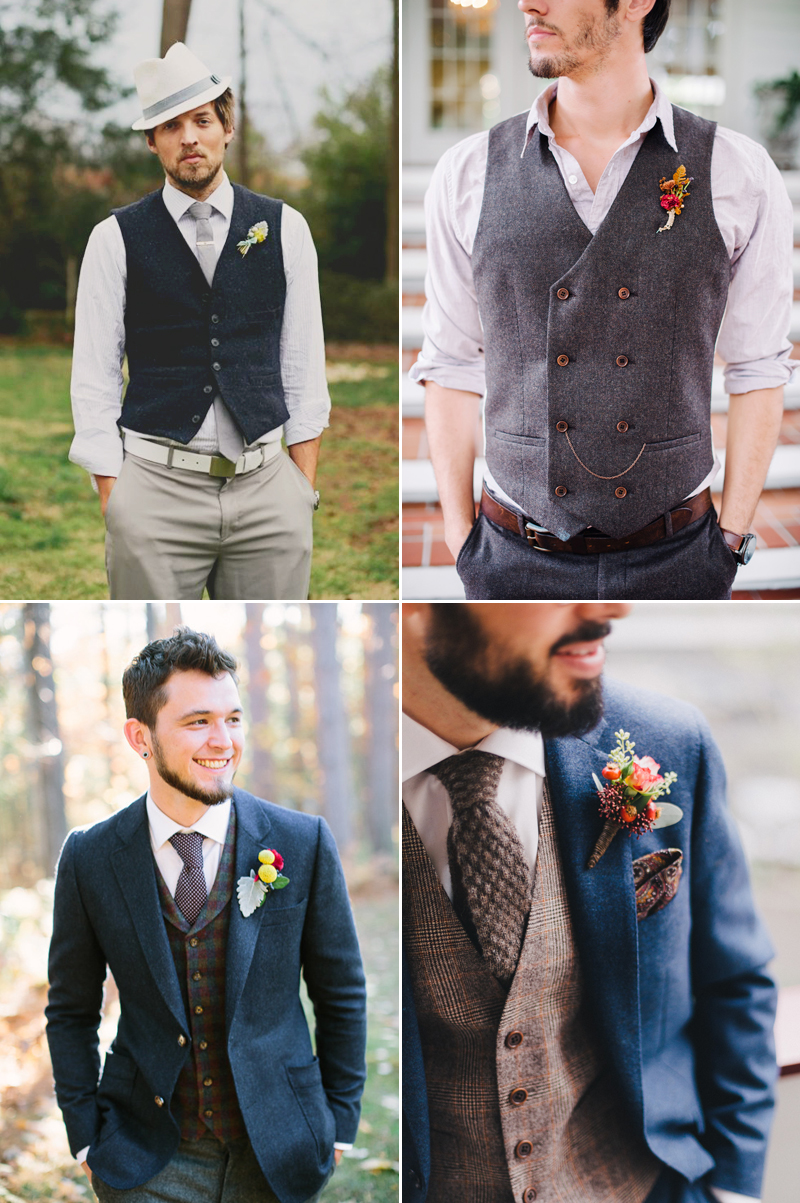 vintage vest wedding attire