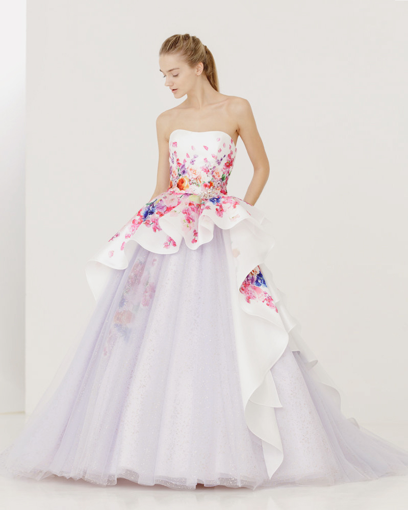 white charming gown