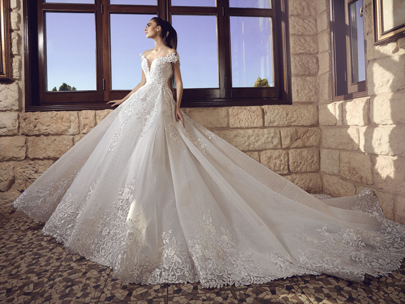 white magnificent gown