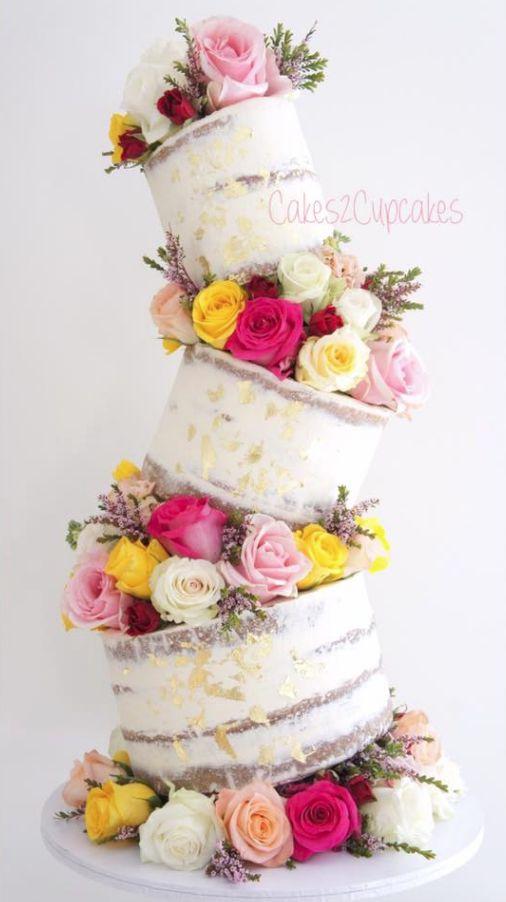 zig-zag unique wedding cake design