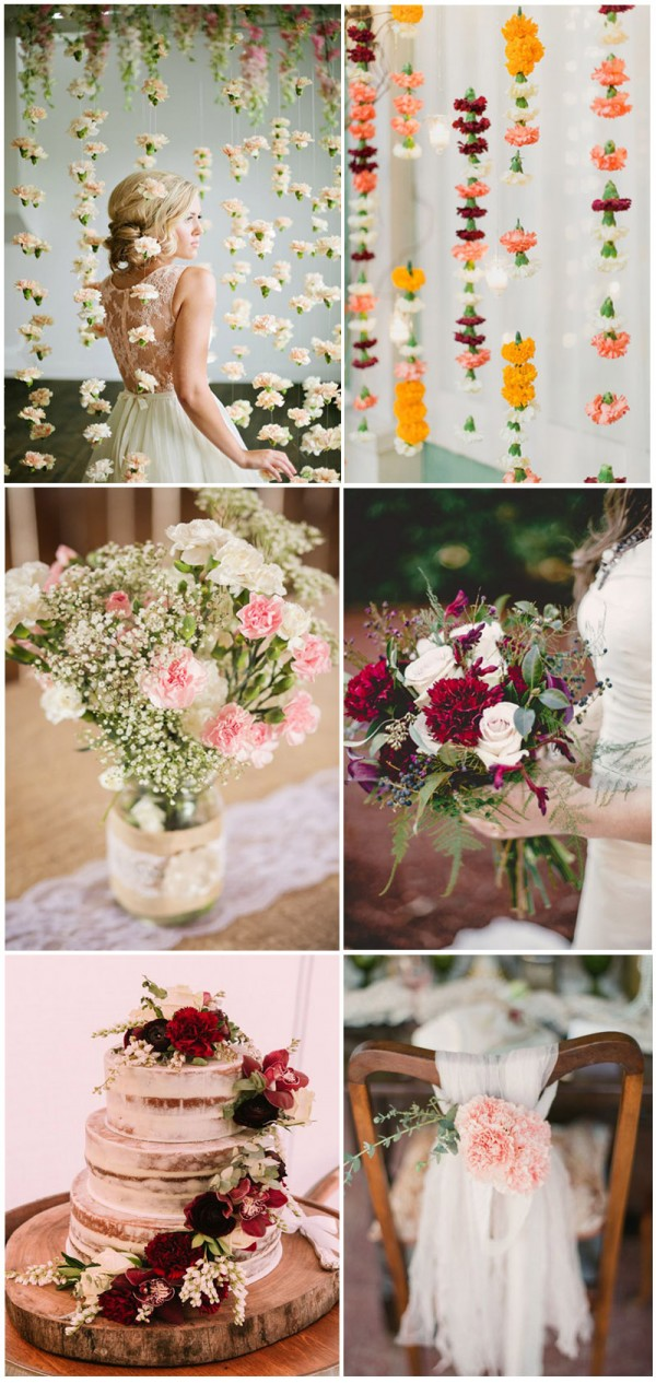 Intriguing-and-romantic-carnation-wedding-bouquets-and-backdrop-ideas