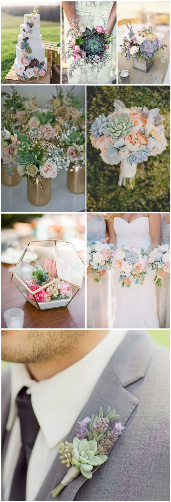 Romantic-succulent-wedding-decor-and-bouquet-ideas