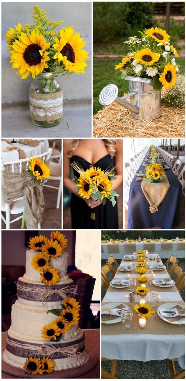Warm-and-bright-sunflower-for-outdoor-wedding