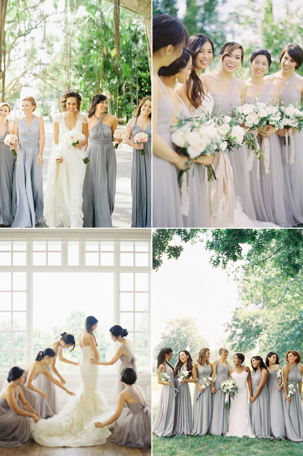 beautiful-gray-bridesmaid-gown