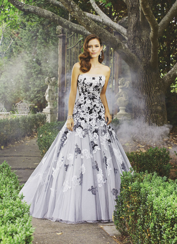 black-and-white-floral-bride-gown