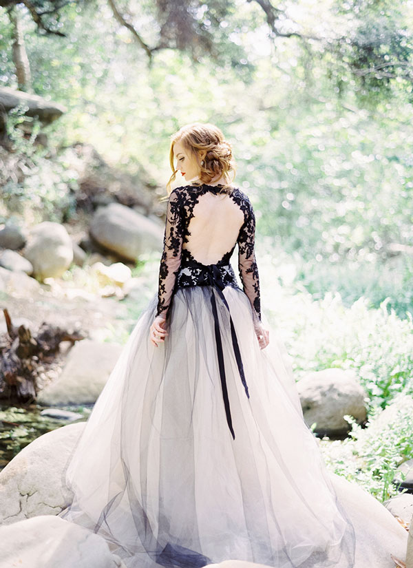 black-outer-for-bride-gown