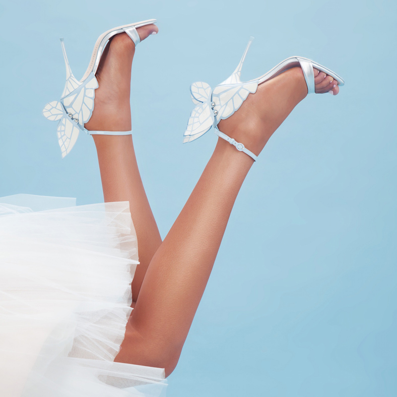 butterfly wing wedding shoes