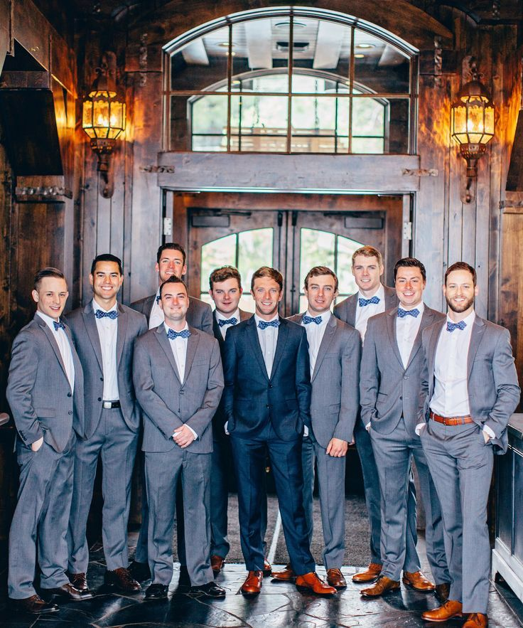 casual gray wedding attire for man