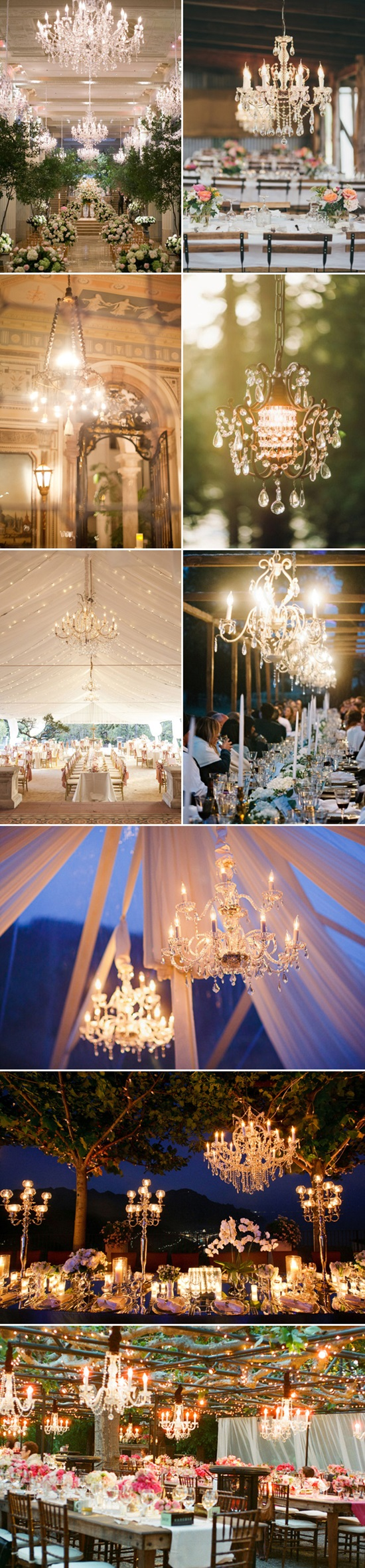 chandelier for elegant wedding concept