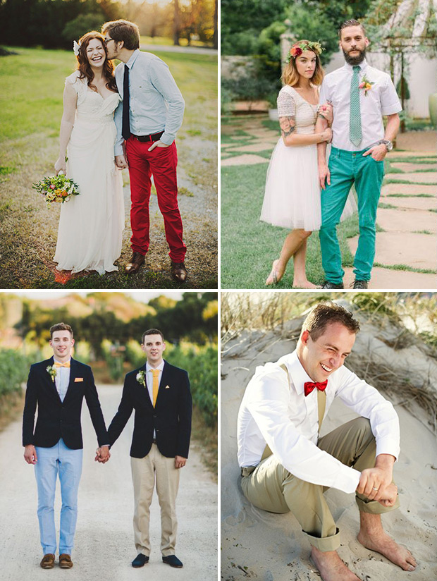 colorful Summer-groom-style-chinos