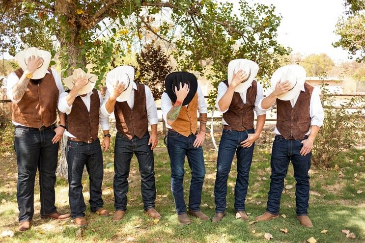 cowboy theme for man wedding attire