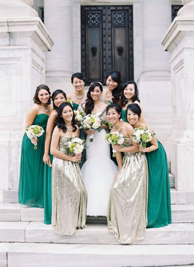 Emerald Gold Wedding Bridesmaid
