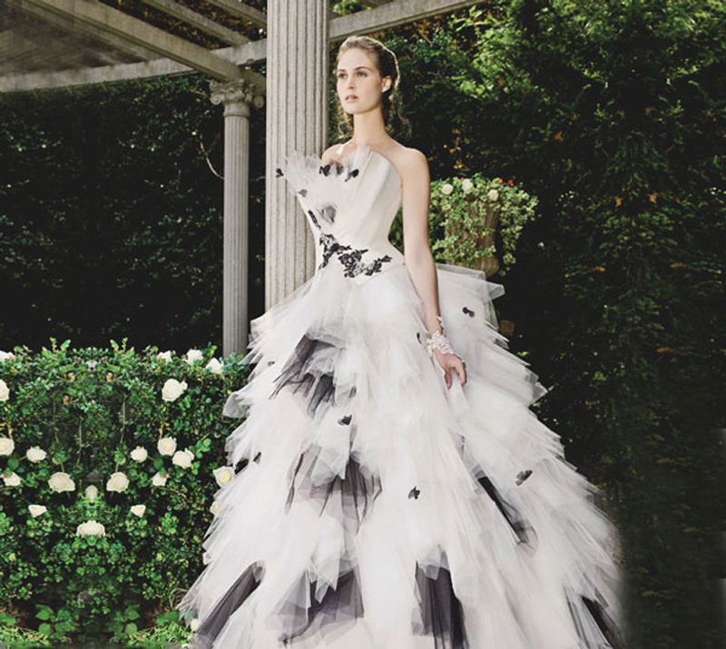 gorgeous-black-and-white-wedding-dresses
