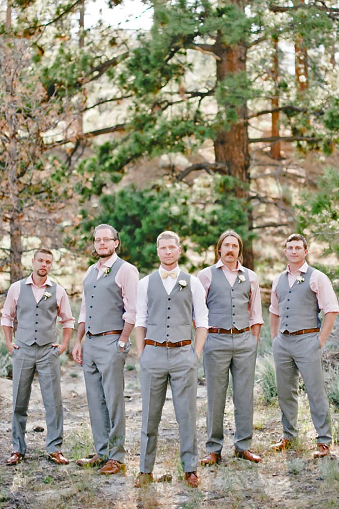 gray vest grooms wedding attire