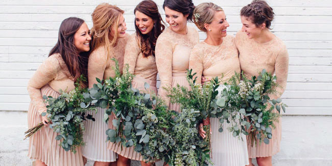 Greenery Wedding Bridesmaid Dress