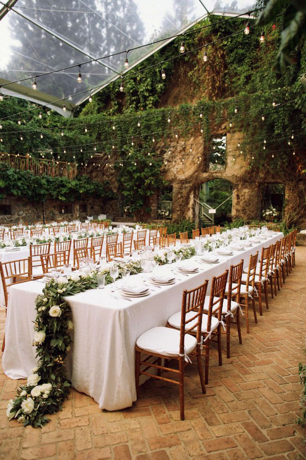Greenery Wedding Dining Place