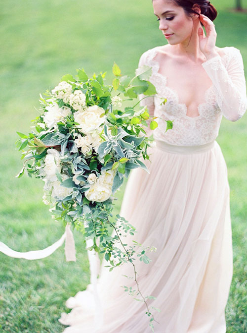 Greenery Wedding Dress