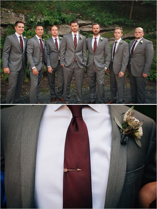 formal groomsmen wedding attire with color