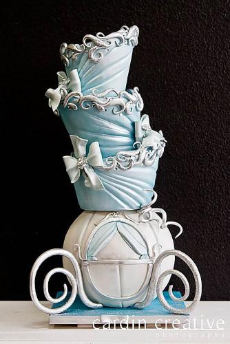 horse-drawn train wedding cake design