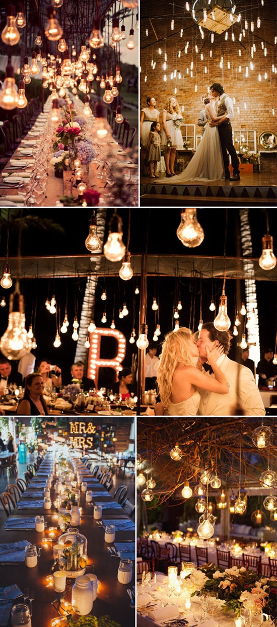 light bulbs for vintage wedding ideas
