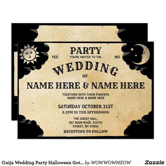 ouija wedding invitation