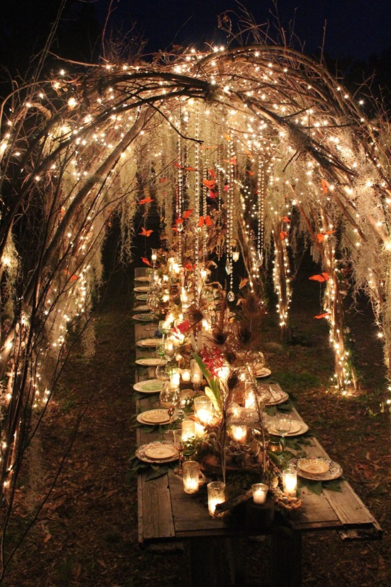 romantic wedding lighting