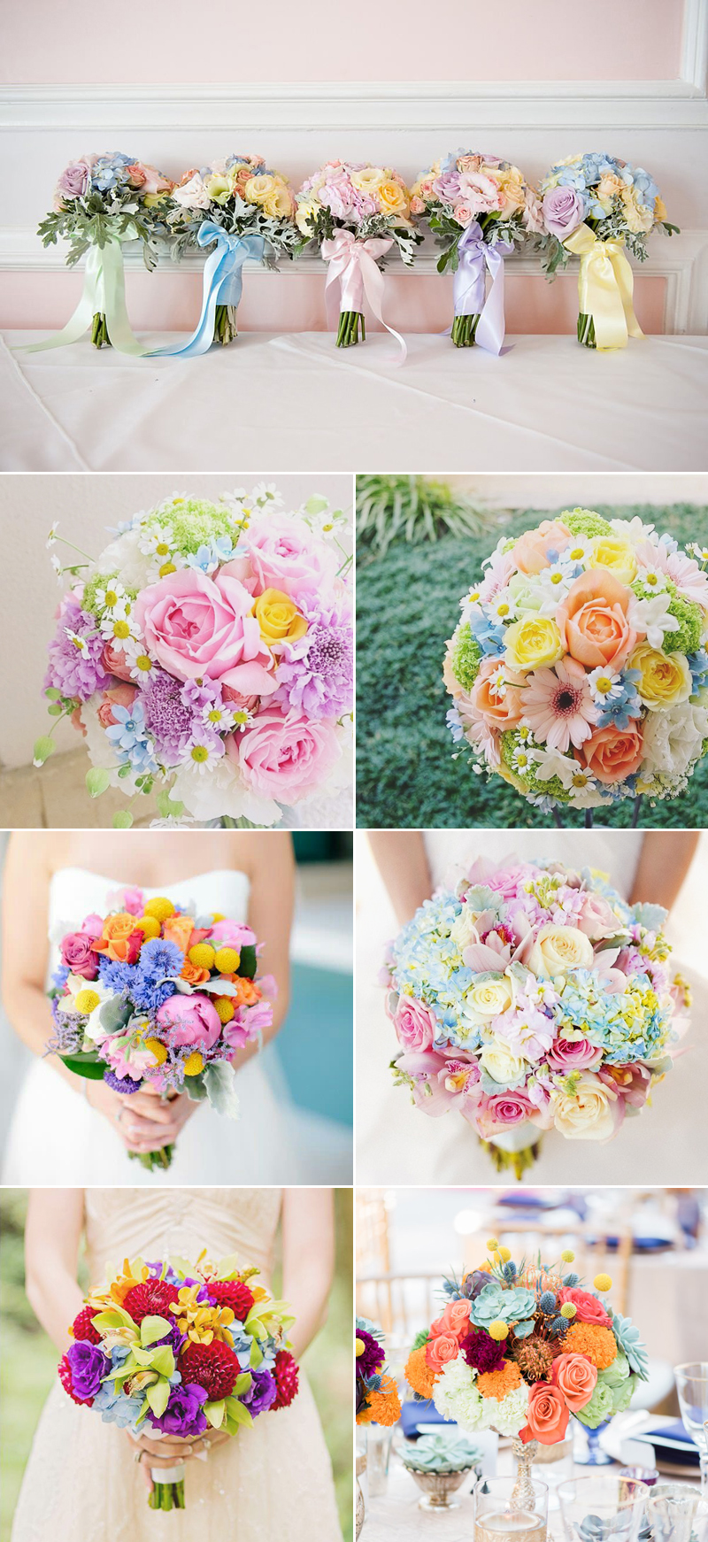 round bouquet flowers