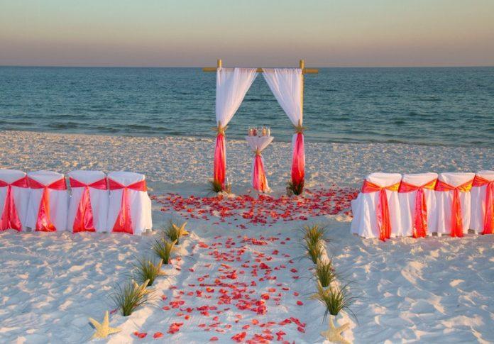 summer beach wedding concept