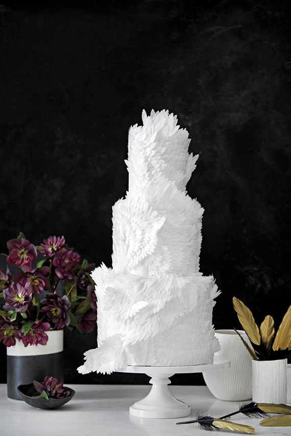 feather wedding cakes attractively wedding cakes with feather theme ideas 4058