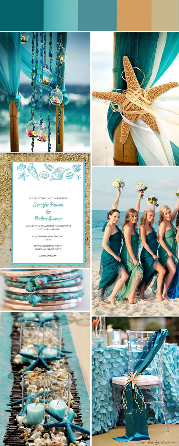 beach wedding color inspiration