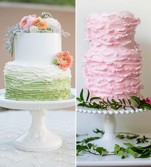 two tier wedding cake design