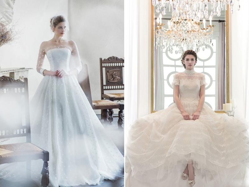 vintage glamour wedding dress design