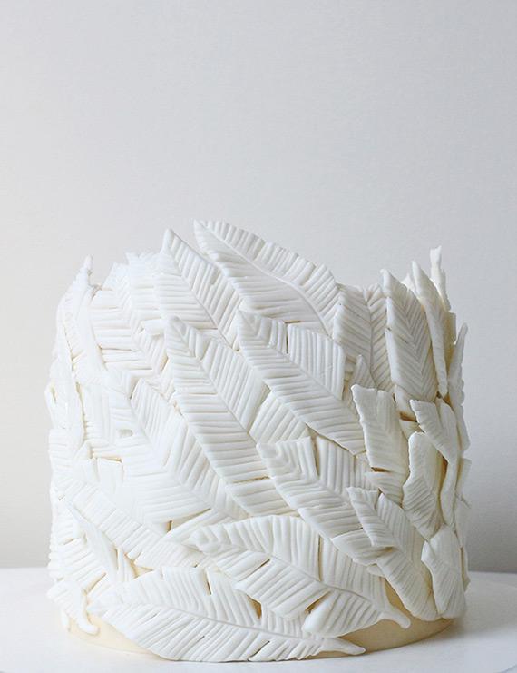 white small fabulous feather cakes