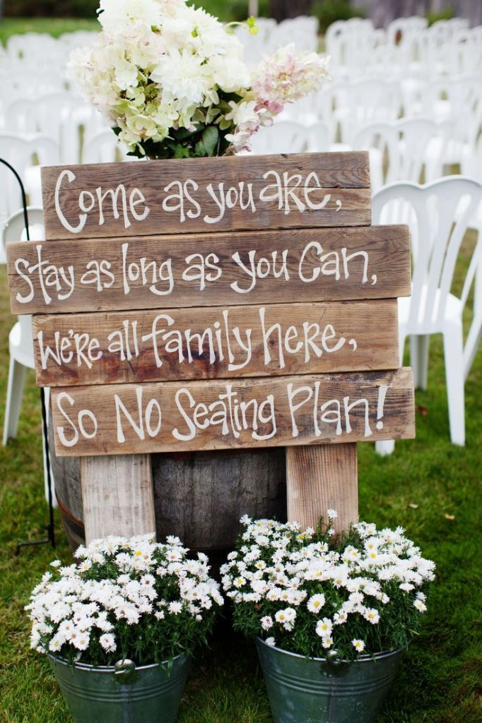 Natural outdoor wedding decoration ideas for your memorable moments pinterest seating sign 3 junglespirit Image collections