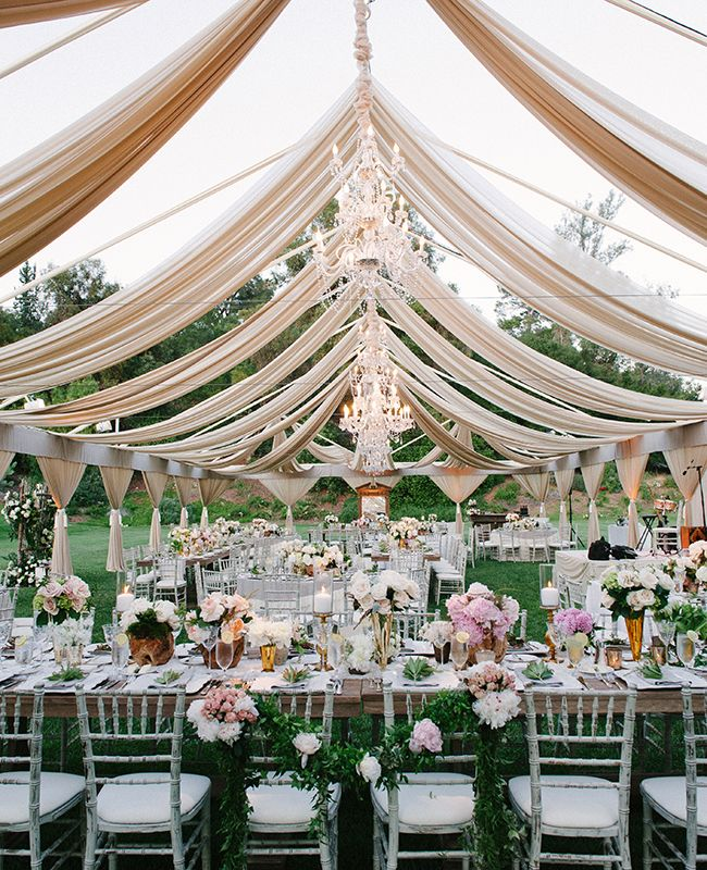 Natural outdoor wedding decoration ideas for your memorable moments overhead 1 junglespirit Images