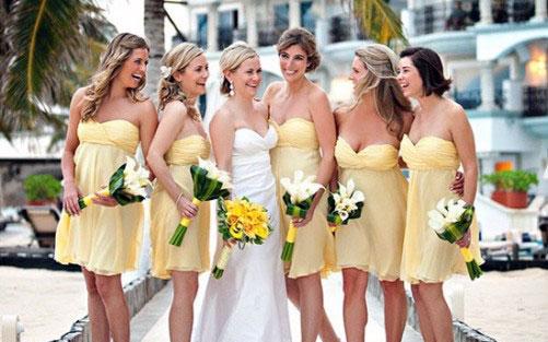 Yellow Casual Bridesmaid Dresses