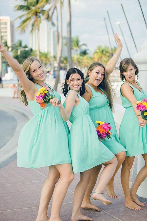 Short Bridesmaid Dresses 1