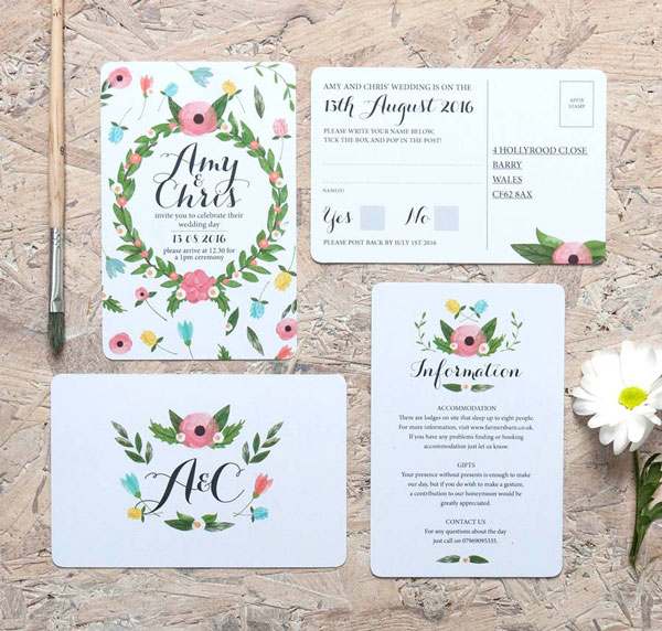 Summer Wedding Invitation 1