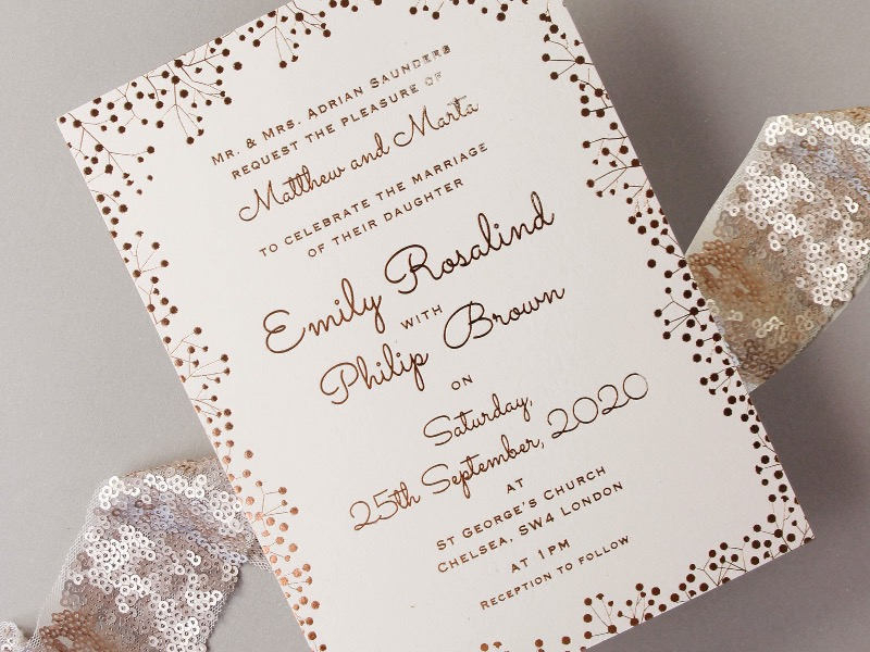 10 Elegant Wedding Invitation Card with Simple and Beautiful Designs