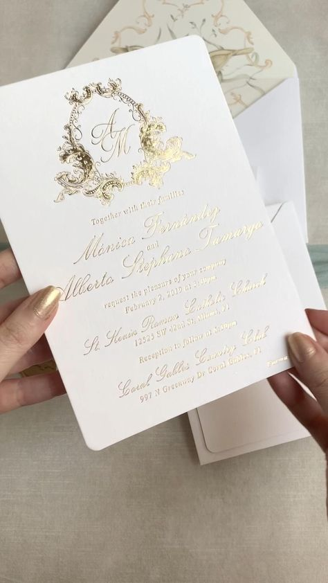 10 elegant wedding invitation card with simple and