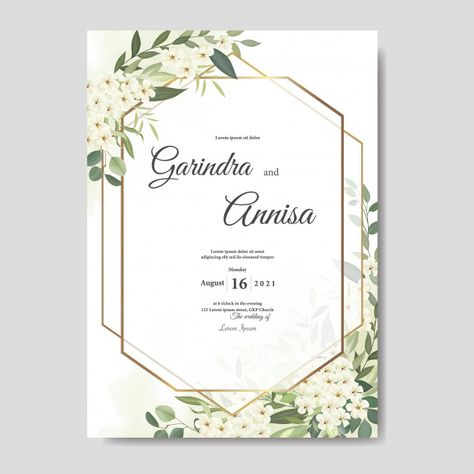 gorgeous elegant wedding invitation