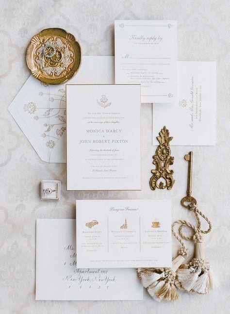 nice elegant wedding invitation