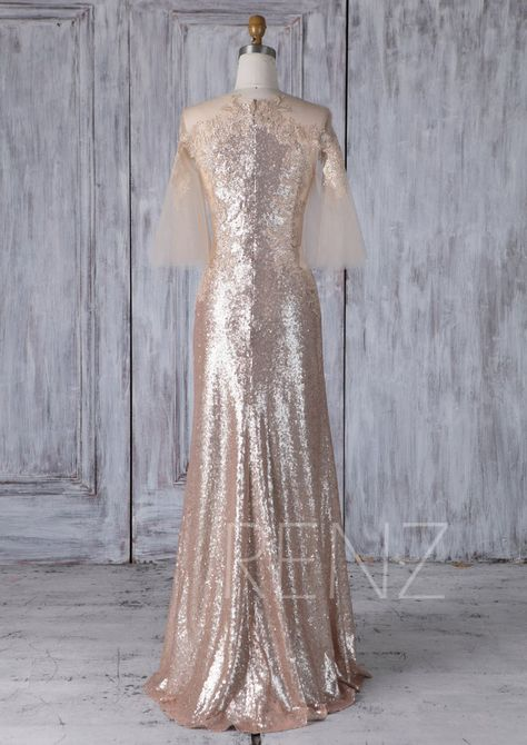 tan wedding dress